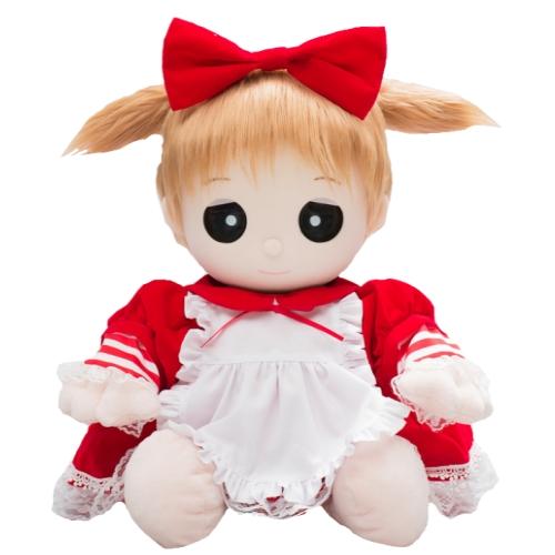 【おもちゃのジャンボ】 ユメル ネルル ミルル 夢の子コレクション46 ベルベット風フリルドレス(リボン付き) 【おしゃべり人形お洋服】