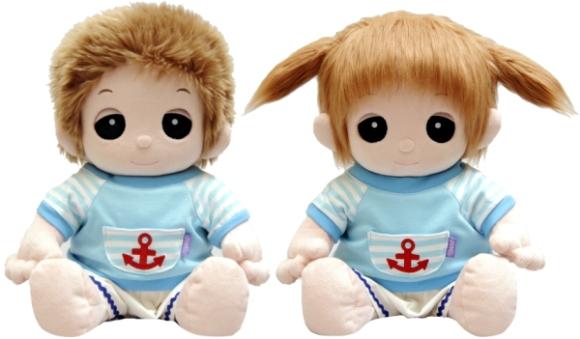 【おもちゃのジャンボ】 夢の子コレクション38 ボーダーマリンシャツ&ズボン 男女兼用 お洋服 ユメル ネルル ミルル 通販 販売