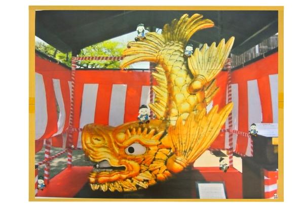 名古屋名物 金シャチにジャンボ君が何人いるか探してください