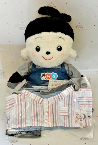 おもちゃのジャンボにてご注文頂きました。プリモプエルのお洋服白シャツに縞模様がかっこいい素敵なお洋服3点セットです