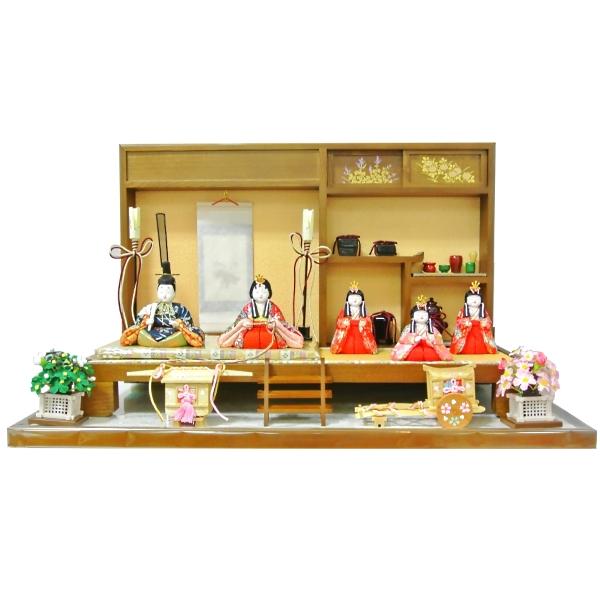 雛人形 ひな人形 お雛様 雛  5人飾り 木目込雛 【2015年度新作】